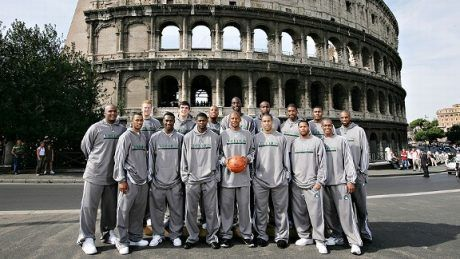 Los Boston Celtics de la 2007-8 en su stage de pretemporada en Roma