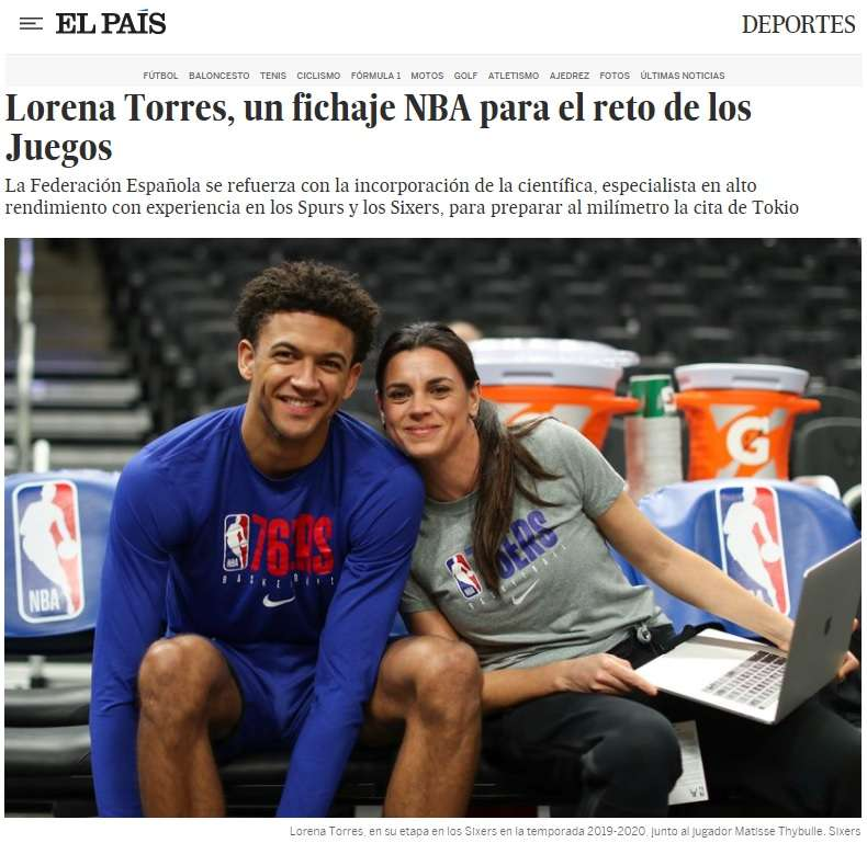 Lorena Torres, Sport Scientist en la NBA