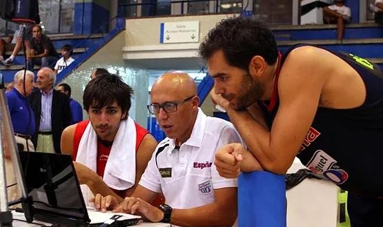 Nacho Coque con Ricky Rubio y José Manuel Calderón
