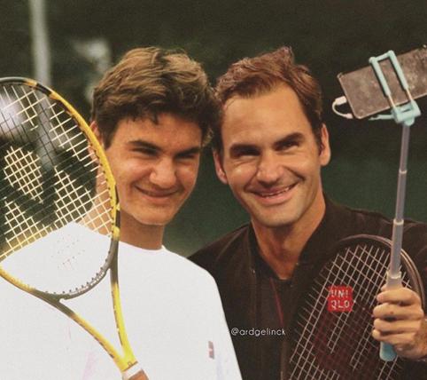 Roger Federer y su yo joven. Forever young: 5 claves de la longevidad en el deporte